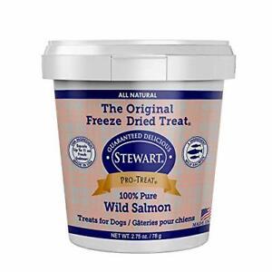 Stewart Pro-Treat Freeze Dried Wild Salmon Dog Treats Single Ingredient Grain...