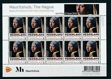 [16743] Netherlands 2014 Painting Vermeer Girl With a Pearl Earring Sheet MNH