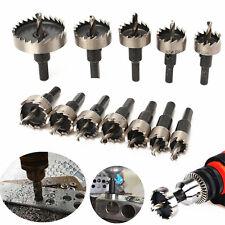 12Pcs Set 15~50mm HSS Carbide Tip Drill Bit Hole Saw Metal Alloy TCT Wood Cutter