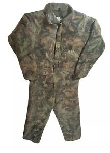 New WALLS Realtree Advantage Timber Camouflage Insulated Coveralls sz YOUTH 16
