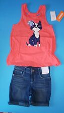 NWT Gymboree tropical puppy dog top & jean bermuda shorts girls outfit size 5