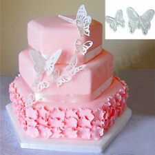 2 Pcs Silicone 3D Butterfly Flower Fondant Cake Chocolate Mould Mold Decor Hot