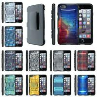 For Apple iPhone Case Hybrid Holster Belt Clip Rugged Armor Combo Cover