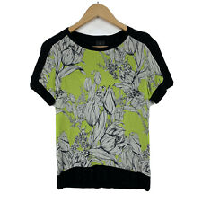 David Lawrence Womens Top Size Small Floral Short Sleeve Good Condition