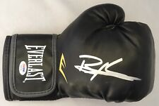 Bernard Executioner Hopkins Hand Signed Everlast Black Boxing Glove PSA/DNA COA