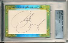 PAT RILEY 2015 LEAF CUT SIGNATURE MASTERPIECE 1/1 EXECUTIVE AUTO - LAKERS HOF