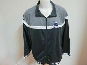 New Sz S-2XL Charcoal Gray Full Zip Up MLB Mens Polyester #83V Track Jacket