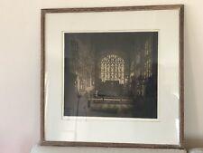 Original Etching Print Of chancel Holy Trinity Church William Shakespeare