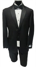 New 50R Mens Calvin Klein Madrid 2 Button Tuxedo Jacket w/ Flat Front Pants Suit