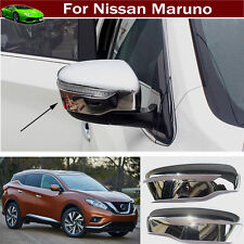 2x Rearview Side Mirror Molding Cover Trim For Nissan Murano 2015-2016-2017-2018