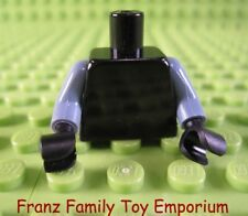 LEGO Minifigure Black TORSO Jacket Yellow Badge Tie White Shirt Body Part #T11