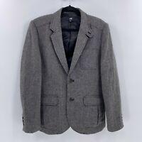 H&M mens wool blend herringbone blazer sport suit coat sz 40R