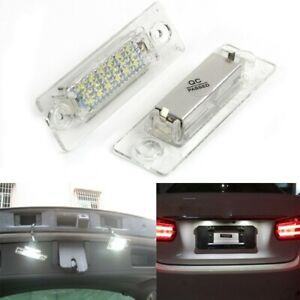 2x 18 LED License Number Plate Light Lamp For VW T5 Caddy Golf Passat Touran