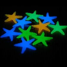 10PCS Glow in the Dark Luminous Stone Starfish Sea Star Aquarium Fish Tank Decor