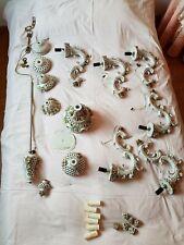 Lampadario a 6 luci in ceramica stile Capodimonte