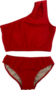 Two Piece Bikini One Shoulder Kid Girl Bathing Suit Swimsuit Cheryl Creations