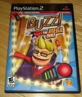 BUZZ THE MEGA QUIZ - PS2 - COMPLETE WITH MANUAL - FREE S/H - (GG)