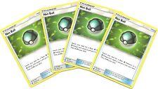 4x NET BALL 187/214 -LOST THUNDER Pokemon Card Trainer- NM/MINT