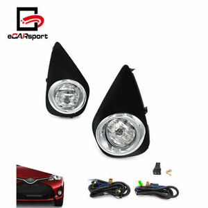 Fog Lights For 2015-2016 Toyota Yaris Hatchback 2/4Dr Clear Driving Lamps+Switch