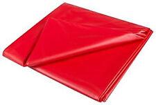 WG RED PVC BED SHEET DOUBLE Waterproof VINYL UK SELLER FAST POST