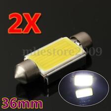 2Pcs 36mm C5W Canbus Festoon Xenon White COB LED Number Plate Light Bulb 6000K