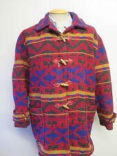 Vintage Aztèque Rétro Inca navajo hippie festival Duffle-Coat UK 16/18 Euro 44-46