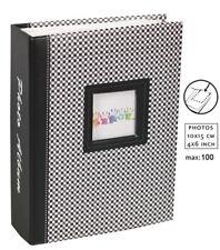Elements álbum de fotografías en negro para 100 fotos en 10x15 cm embutir álbum de fotografías