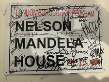 More details for genuine signed only fools and horses street sign, 25+ cast, 29cm x 21cm