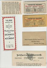 1937 Packet of Information - North American Accident Insurance Company