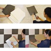 EE_ Waterproof Self-adhesive Mosaic Wall Sticker Tile Floor Kitchen Room Decor N