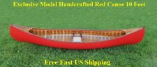 Wooden Real Hand Crafted Canoe 10 Feet Ribs Curved Bow Paddle Canadian Red Cedar