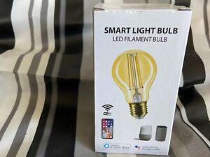Wi-Fi Smart A19 Vintage Edison Filament Tunable LED Light Bulb Gold Glass Warm
