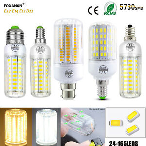 E27 E14 E12 B22 LED Corn Bulb 5730 SMD Light Corn Lamp Incandescent 20W 80W 160W
