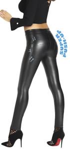 Leder-Optik * Shape-Leggings Gr. S-XXL * Push Up Effekt formend modellierend