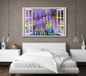 LARGE CANVAS WALL ART PURPLE LAVANDER BLOSSOM FOREST FLOWERS PICTURE NEW PRINT