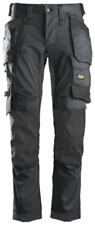 Snickers 6241 Size 48 with Holster Pockets Stretch Work Pants - Grey/Black