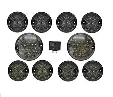 LAND ROVER DEFENDER 90 / 110 / 130 LED UPGRADE LAMP KIT 73MM & 95MM ALL SMOKED