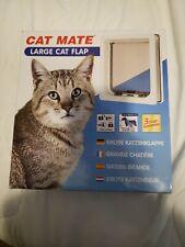 Cat Mate Lockable Large Cat Flap White 221W