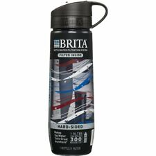 Brita Filtered Water Bottle With-1 Filter, Hard Sided,BPA Free 23.7oz