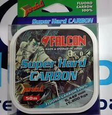 FALCON FLUOROCARBON 100% SUPER HARD CARBON 50m - 15,800 Kgs - 0,448mm