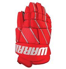 "New Warrior Burn Fatboy box lacrosse goalie gloves 13"" Red Lax indoor goal"