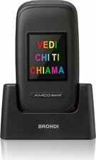 Brondi Telefono Cellulare Dual SIM Anziani Tasti grandi e SOS Nero Amico Special