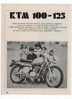 Pubblicità 1971 KTM 100-125 MOTO MOTOR advertising werbung publicitè reklame