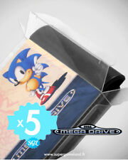 5 BOITIERS PROTECTION PROTECTIVE CASE SEGA MEGADRIVE MD LOOSE 0,4 mm NEUFS