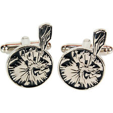 Captain Caveman Cufflinks. Hanna-Barbera Classic Kids Cartoon Mens Wedding Retro