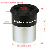 "SVBONY 1.25"" 31.7mm Telescope 4mm Fully HD. Coated Plossl Eyepiece Lens US Stock"