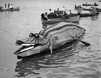 "1924 First Place Winner at Canoe Regatta Old Photo 8.5"" x 11"" Reprint"