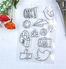 11x Acrylic Travel Theme Logo DIY Unmounted Stamp Plate for Scrapbook