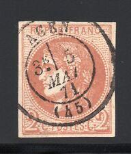 FRANCE 1870 BORDEAUX ND, YVERT N°40B obl., 2c Brun-rouge, SIGNÉ 2 x, YVERT 375 €
