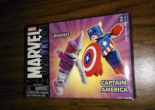 Marvel Universe Minimates CAPTAIN AMERICA RHINO 2 pack! 2004 Target Exclusive!